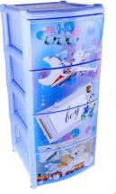Комод для игрушек Альтернатива Boy 4 ящика, голубой