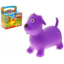 """Прыгун """"Собачка"""", 50 см, фиолетовый, Забияка"""