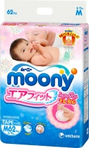 Подгузники Moony M (6-11 кг) 62 шт