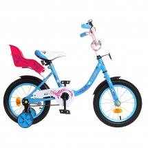 "Велосипед двухколесный ""Fashion girl"", 14"", синий, GRAFFITI"