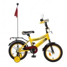 """Велосипед двухколесный """"Premium Racer"""", 14"""", желтый, GRAFFITI"""