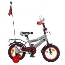 """Велосипед двухколесный """"Premium Racer"""", 12"""", серый, GRAFFITI"""