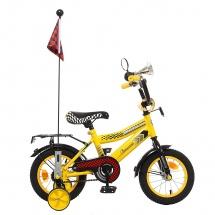 """Велосипед двухколесный """"Premium Racer"""", 12"""", желтый, GRAFFITI"""