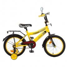 """Велосипед двухколесный """"Premium Racer"""", 16"""", желтый, GRAFFITI"""