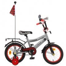 """Велосипед двухколесный """"Premium Racer"""", 14"""", серый, GRAFFITI"""