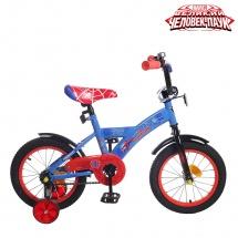 """Велосипед двухколесный """"Человек-паук"""", 14"""", синий, GRAFFITI"""