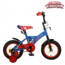 """Велосипед двухколесный """"Человек паук"""", 12"""", синий, GRAFFITI"""