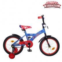 """Велосипед двухколесный """"Человек-паук"""", 16"""", синий, GRAFFITI"""