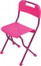 Стул Ника складной пластмассовый СТУ2, розовый