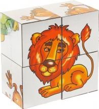 Кубики Десятое королевство Малыш. В желтой жаркой Африке 4 шт