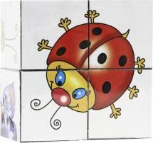 """Кубики Десятое королевство """"Малыш. Веселые букашки"""" 4 шт"""