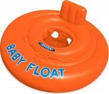 Круг для плавания Intex Baby float 76 см с сиденьем 1-2 лет