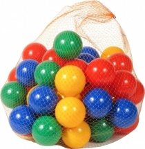 Шарики для сухого бассейна Крошка Я d=7,5 см 60 шт, разноцветный
