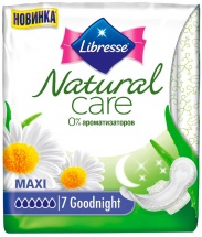 Прокладки женские Libresse Natural Care Maxi Goodnight 7 шт