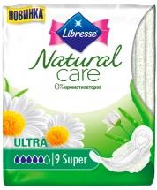 Прокладки женские Libresse Natural Care Ultra Super 9 шт