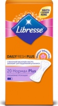Ежедневные прокладки Libresse Dailyfresh Plus Normal 20 шт