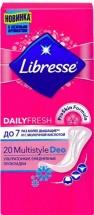 Прокладки женские ежедневные Libresse Dailyfresh Multistyle Deo 20 шт