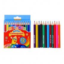 """Цветные карандаши """"Мини"""", 12цв., Школа талантов"""