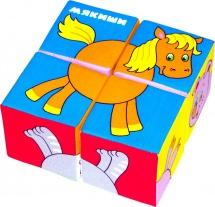 Кубики Мякиши Собери картинку. Домашние животные