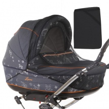 Москитная сетка Baby care Classic Plus для колясок-люлек, черный