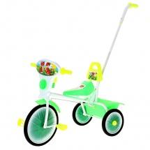"""Велосипед трехколесный """"Малыш"""", с управляющим поводком, кузовком, зеленый, Старт"""