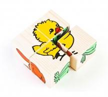 Кубики Томик Животные 4 шт