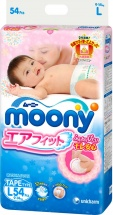 Подгузники Moony L (9-14 кг) 54 шт
