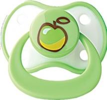 Пустышка Мир детства силикон. ортодонт. 0-6 мес, зеленый