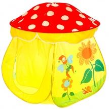 """Игровая палатка """"Сказочный домик"""", цвет красно-жёлтый"""