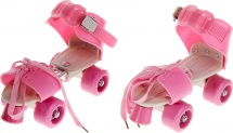 Ролики для обуви раздвижные Onlitop 16-21 см, розовый