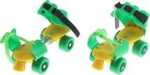 Ролики для обуви раздвижные Onlitop 16-21 см, зеленый