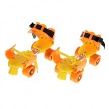 Ролики для обуви раздвижные, 16-21 см, оранжевый, Onlitop