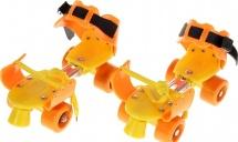 Ролики для обуви раздвижные Onlitop 16-21 см, оранжевый