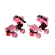Ролики для обуви раздвижные, 19-25 см, розовый, Onlitop
