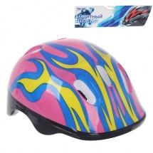 """Детский защитный шлем """"OT-H6"""", M (55-58 см), розовый, Onlitop"""