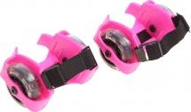 Ролики для обуви Onlitop раздвижные, розовый