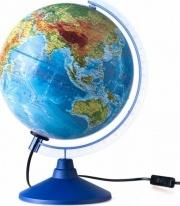 """Глобус Земли """"Физико-политический"""", с подсветкой, d 250 мм, серия Евро, Globen"""
