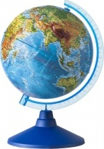 """Глобус Земли """"Физический"""", рельефный, d 320 мм, серия Евро, Globen"""
