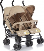 Коляска-трость для двойни Baby Care City Twin, хаки