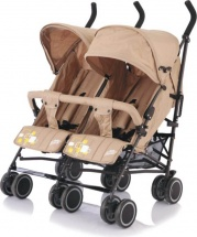 Коляска-трость для двойни Baby Care City Twin хаки (Khakki)