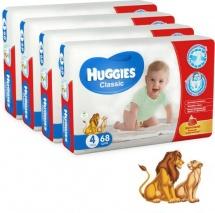 Набор подгузников Huggies Classic 4 (7-18 кг) 4 шт