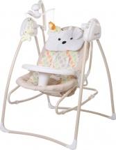 Электрокачели Baby Care Butterfly 2 в 1 с адаптером, бежевый