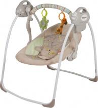 Электрокачели Baby Care Riva с адаптером, кофейный