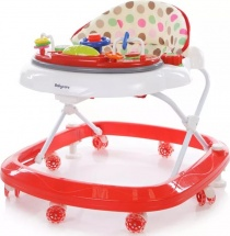Ходунки Baby Care Sonic, бело-красный