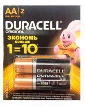 Батарейка Duracell Basic AA алкалиновая 2 шт