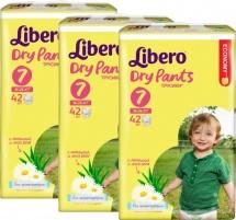 Набор трусиков Libero Dry Pants 7 (16-26 кг) 3 пачки по 42 шт