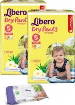 Трусики Libero Dry Pants 5 (10-14 кг) 50 шт + салфетки