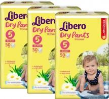 Набор трусиков Libero Dry Pants 5 (10-14 кг) 3 пачки по 50 шт