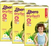 Набор трусиков Libero Dry Pants 6 (13-20 кг) 3 пачки по 46 шт