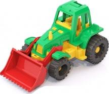 Трактор Нордпласт Ижора с грейдером, зеленый